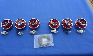 New 1963 Chevrolet Chevy Impala Belair Rear Tail Lamp Lens Ornament Kit Lot