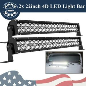 2x 22inch 240w Led Work Light Bar Combo Spot Flood Driving Offroad Suv Boat Atv