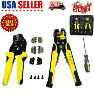 4 In 1 Wire Crimpers Ratcheting Terminal Crimping Pliers Cord End Terminals Kit