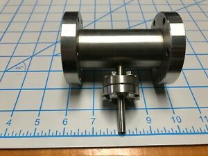2 3 4 Uhv Conflat Vacuum Tee Roughing Stainless 2 75 X 2 75 X 1 33