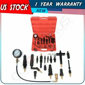 16pcs Diesel Engine Compression Gauge Tester Tool Kit For Auto Tractor