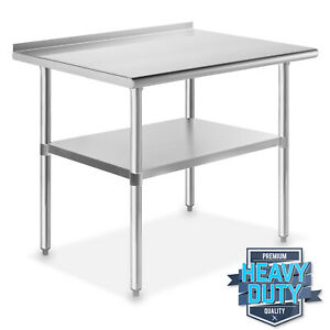 Stainless Steel 24 X 36 Nsf Kitchen Restaurant Work Prep Table With Backsplash