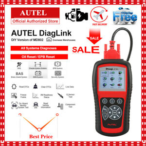 Autel Diaglink Auto Obd2 Diagnostic Scanner Obdii Code Reader All System Epb Oil