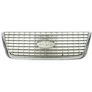 Grille For 2003 2006 Ford Expedition Chrome Plastic