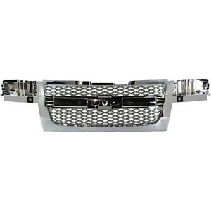 Grille For 2004 2012 Chevrolet Colorado Chrome Plastic