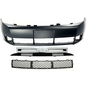 Bumper Cover Kit For 2008 2011 Ford Focus Front 3pc Primed
