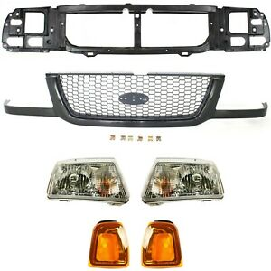 Kit For 2001 2003 Ford Ranger Gille Assembly Healight Corner Light Headear Panel