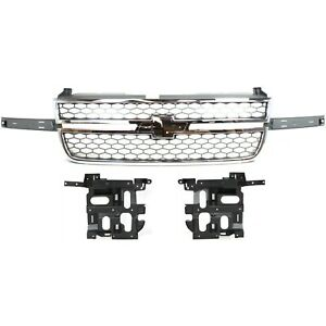 Headlight Kit For 2003 2006 Chevrolet Silverado 1500 Hd Inlcudes Chrome Grille