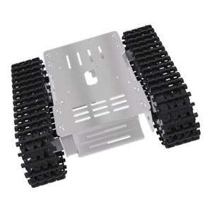 Metal Smart Rc Robot Tank Chassis Suspension System Rubber Track W Motor