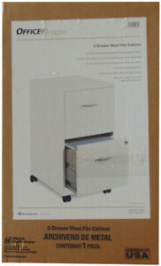New Officedesigns 19634 2 Drawer Steel File Cabinet White 19634pw