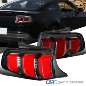For Ford 10 12 Mustang Red Led Bars Sequential Turn Signal Tail Brake Lights Gt