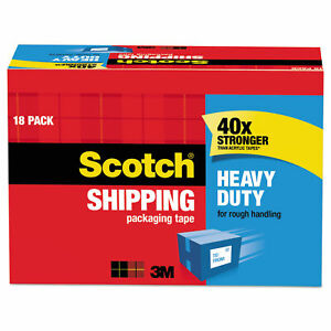 Scotch Heavy Duty Shipping Packaging Tape Cabinet Pack 1 88 In X 54 6 Yd