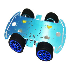 4wd Smart Robot Car Alloy Chassis Diy Set With Reduction Motor For Arduino