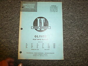 Oliver 1800 1850 1900 1950 990 995 1600 1650 880 90 99 Tractor Flat Rate Manual