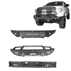 Fit Toyota Tundra 2014 2020 Texture Rear Front Bumper Bar W Winch Plate