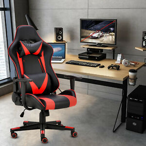 180 Lying Office Computer Gaming Chair Racing High Back Recliner Executive