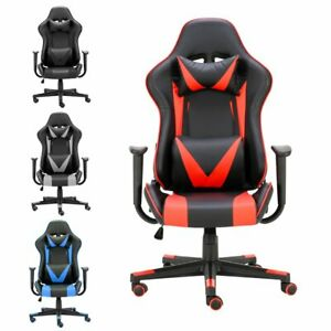 180 Lying Office Computer Gaming Chair Racing High Back Recliner Executive Red
