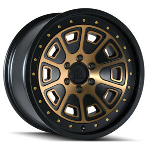 4 mayhem 8301 Flat Iron 18x9 6x135 0mm Bronze black Wheels Rims 18 Inch