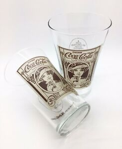 Set of 2 Vintage Coca Cola Glasses, 16oz.