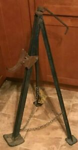 Vintage wizard lift Rated Tripod Bumper Jack Heavy Dutywestern Auto Supply Co