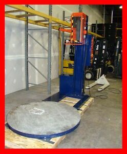 Highlight Industries Low Profile Pallet Stretch Shrink Wrapping Machine Wrapper