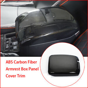 For Toyota Prado Fj150 Abs Carbon Fiber Armrest Box Panel Cover Trim 2010 2019