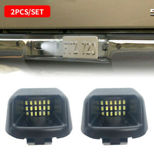 2pcs Fit Nissan Frontier Titan Xterra 2007 2019 White 18led License Plate Light