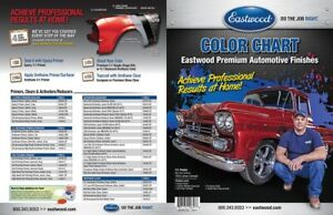 Eastwood Branded Color Paint Chart Single Stage Urethane Coatings Metalic Gloss