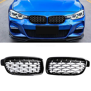 Gloss Black Front Kidney Grille Grills For Bmw F30 328i 335i 2012 2018 New Style