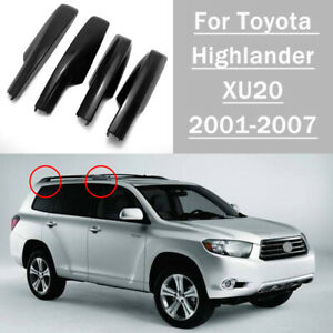 Roof Rack Cover Rail End Shell Replacement For Toyota Highlander Xu20 2001 2007