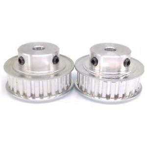2pcs Xl 25t Timing Belt Pulley Synchronous Wheel 7mm Bore For 10mm Width Belt