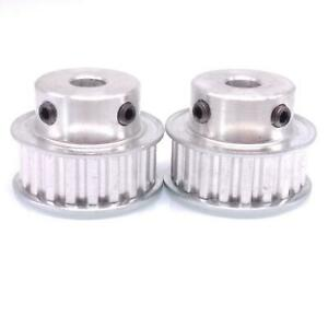 2pcs Xl 20t Timing Belt Pulley Synchronous Wheel 8mm Bore For 10mm Width Belt