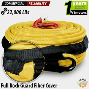 95 X 3 8 Synthetic Nylon Winch Line Cable Rope 22000 Lb Suv 4wd Utv Atv Yellow