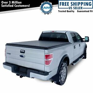 Hard Tri Fold Tonneau Cover For 2004 2015 Ford F150 Crew Cab 5 5ft Short Bed