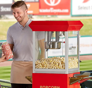 Popcorn Machine 8oz Quick And Easy Vintage Commercial Popper Maker 120v 850v