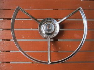 1956 1957 Ford Fairlane Steering Wheel Horn Ring Galaxie Fdr 3624 B