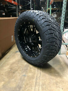 20x10 Moto Metal Mo962 Wheels Rims 33 Fuel At Tires 6x5 5 Chevy Silverado 1500