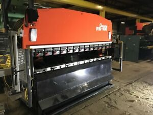 100 Ton X 10 Amada Rg100 Cnc Hydraulic Press Brake New 1998
