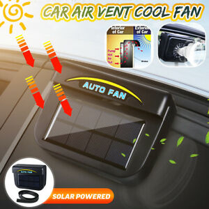 Solar Sun Powered Car Auto Window Air Vent Cooling Fan System Cooler Radiator