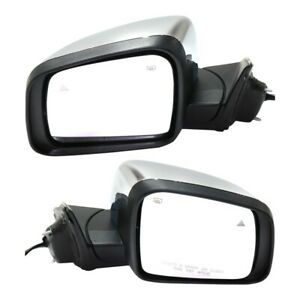 Power Mirror Set For 2011 2017 Jeep Grand Cherokee Heated With Bsd Chrome