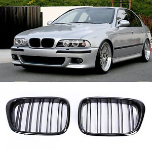 Pair Gloss Black Kidney Grille Grill Cover For Bmw E39 5 Series E39 M5 2000 2003