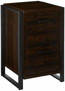 Home Office 2 Drawer Vertical File Storage Cabinet Dark Chocolate