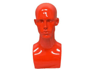 Male Fiberglass Mannequin Head Bust Wig Hat Jewelry Display md erared