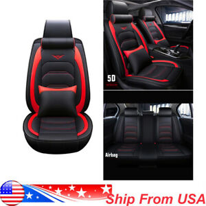 2pcs Car Racing Seats Reclinable Tan Beige Black Pu Leather Pair Seats W Sliders