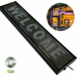 Scrolling Led Sign 40 X 8 White Outdoor Led Signs Business Adervising Board