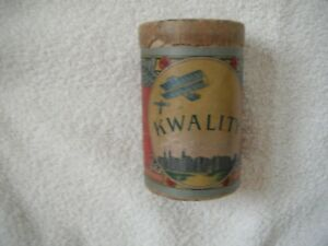 Circa 1910 Lamp Inverted Mantle Container Kwality With Wooden Flying Airplane
