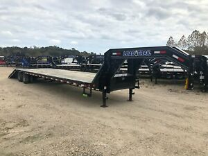 40 Gooseneck hydraulic Dove Tail 2 12 000 Axles load Trail brand New