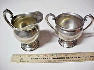Sterling Silver Heirloom Damask Rose Creamer And Sugar Bowl 609