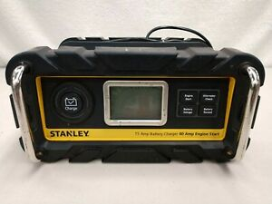 Stanley Bc15bs 15 Amp Bench Battery Charger With 40 Amp Engine Start Used