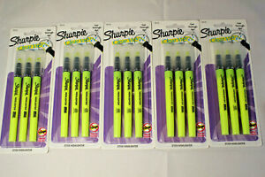 5 Sharpie Clear View Highlighter Stick Yellow 3 pack 1950745 New Sealed